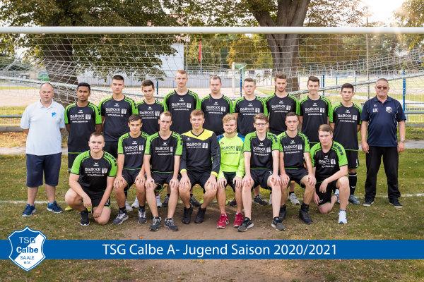 A-Jugendmannschaft der TSG Calbe in der Saison 2020/2021