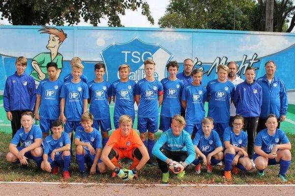 C-Jugendmannschaft der TSG Calbe in der Saison 2019/2020