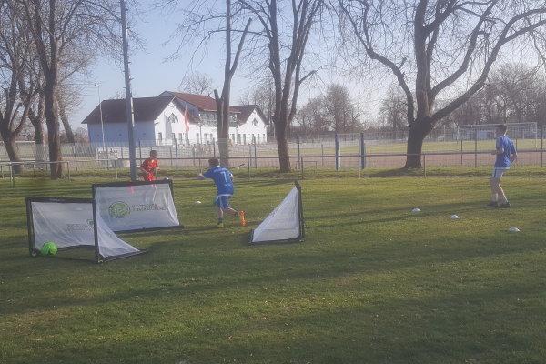 Die Tore wurden in das Training gleich voll eingebunden.