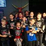 Die D-Jugendmannschaft der TSG Calbe beim Lasertag in Magdeburg.   Foto: Verein