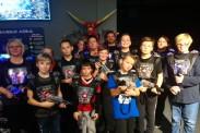 Die D-Jugendmannschaft der TSG Calbe beim Lasertag in Magdeburg. | Foto: Verein