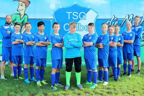 D2-Jugendmannschaft der TSG Calbe in der Saison 2017/2018