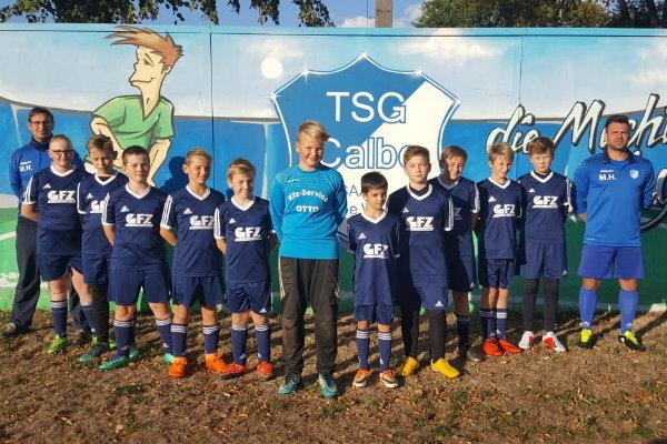 D-Jugendmannschaft der TSG Calbe in der Saison 2018/2019