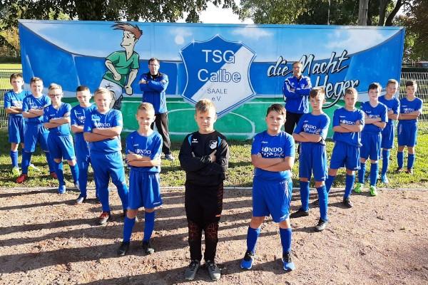 D-Jugendmannschaft der TSG Calbe in der Saison 2020/2021