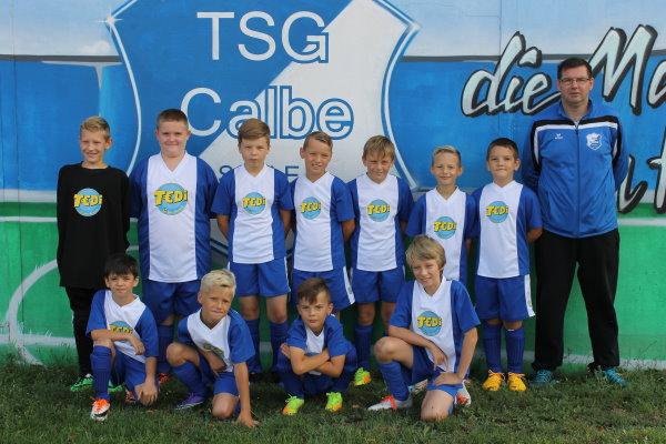 E-Jugendmannschaft der TSG Calbe in der Saison 2017/2018
