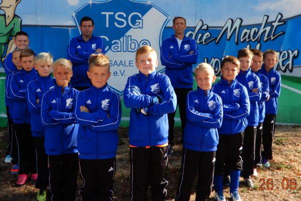E-Jugendmannschaft der TSG Calbe in der Saison 2018/2019
