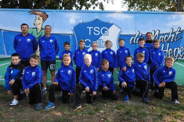 E-Jugendmannschaft der TSG Calbe in der Saison 2019/2020
