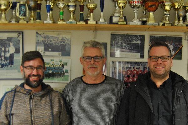 Neu-Co-Trainer Carsten Moritz, TSG-Abteilungsleiter Rainer Schulze und Neu-Trainer Marcel Würlich. | Foto: Verein