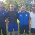 Das Trainerteam der Landesligakicker der TSG Calbe: Christian Harant, Keven Harms, Detlef Sobczak und Maik Hoffmann. | Foto: Verein