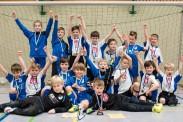 Jubel nach der Siegerehrung bei beiden Calbenser Teams. | Foto: Verein