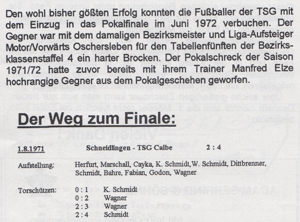 Erste Runde im FDGB-Pokal.