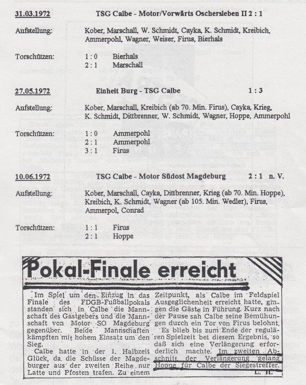 Die Achtel-, Viertel- und Halbfinalbegegnungen.