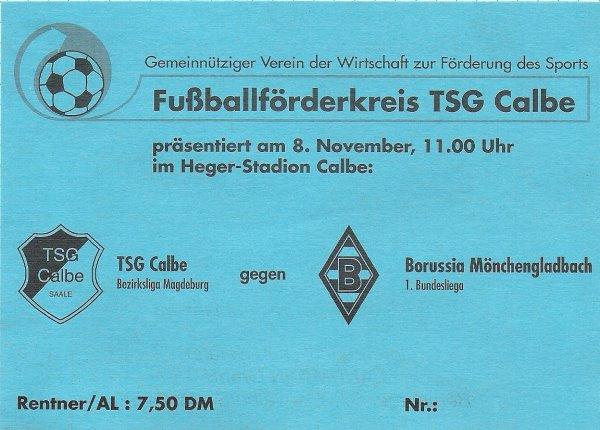 Eintrittskarte für dieses tolle Fußballerlebnis.