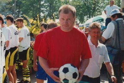 Andreas Brinkmann vor dem Spiel gegen den Bundesligisten Borussia Dortmund.