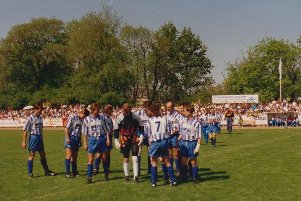 Letzte kleine Mannschaftsrunde vor dem großen Spiel gegen den Bundesligisten.