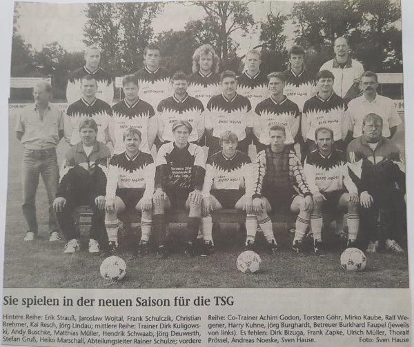 Mannschaftsvorstellung vom 26. August 1996.