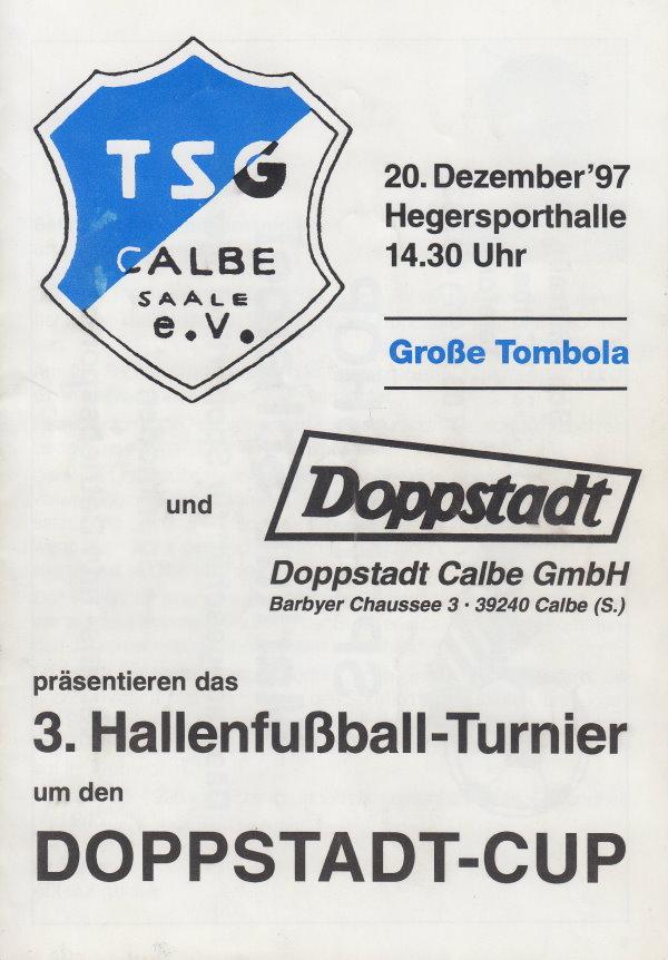 Deckblatt vom Programmheft zum Doppstadt-Cup am 20.12.1997.