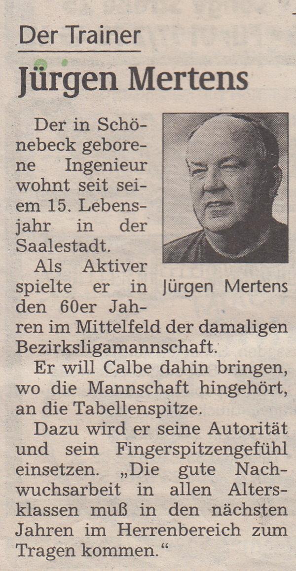 Volksstimme-Sonderausgabe zur Saison 1997/1998 (Teil 2).