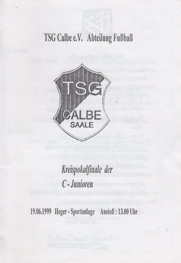 Deckblatt vom Programmheft zum Pokalfinale der C-Jugend.