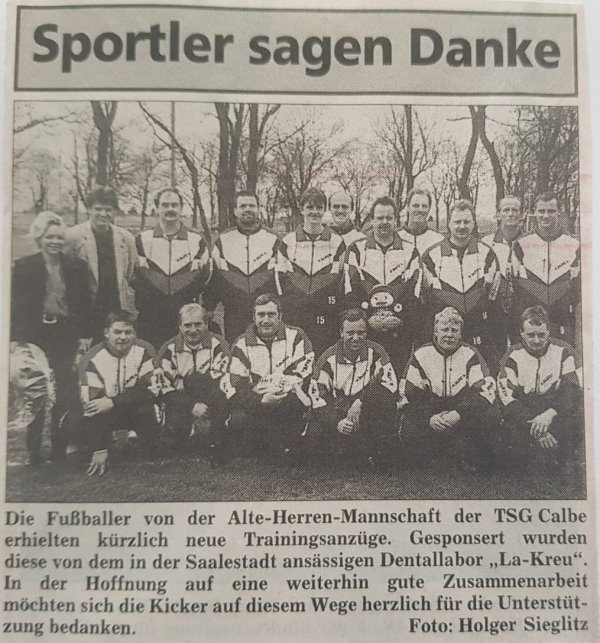 Zeitungsbericht vom Mia 1998.