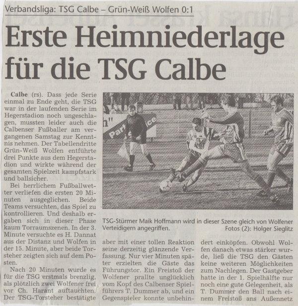 Volksstimme-Bericht zum 19. Spieltag (Teil 1).