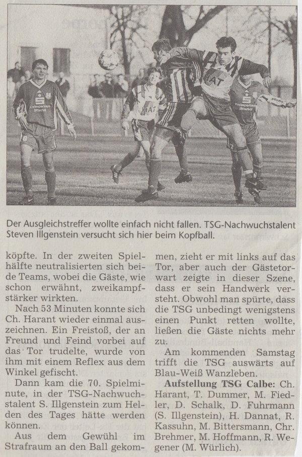 Volksstimme-Bericht zum 19. Spieltag (Teil 2).