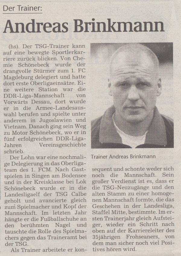 Volksstimme-Sonderbeilage zur Saison 1999/2000 (Teil 3).