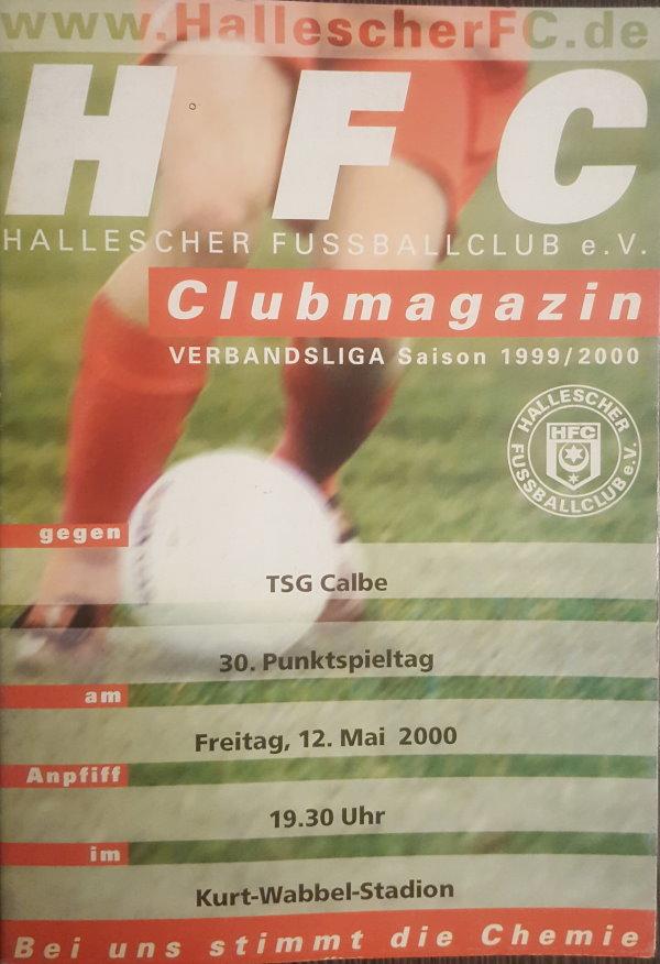 Das Programmheft vom 12. Mai 2000 zum Verbandsligaspiel zwischen dem HFC und der TSG Calbe.