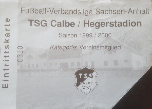 Eintrittskarte zu den Heimspielen der Verbandsligasaison im Hegerstadion.
