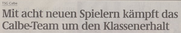 Volksstimme-Sonderausgabe (Überschrift).