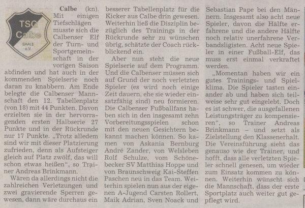 Volksstimme-Sonderausgabe (Teil 1).