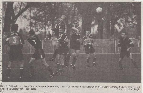 Volksstimme-Artikel zum Spiel gegen den 1. FC Wernigerode (Teil 2).