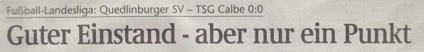 Volksstimme-Artikel vom 19. Februar 2002 (Überschrift).