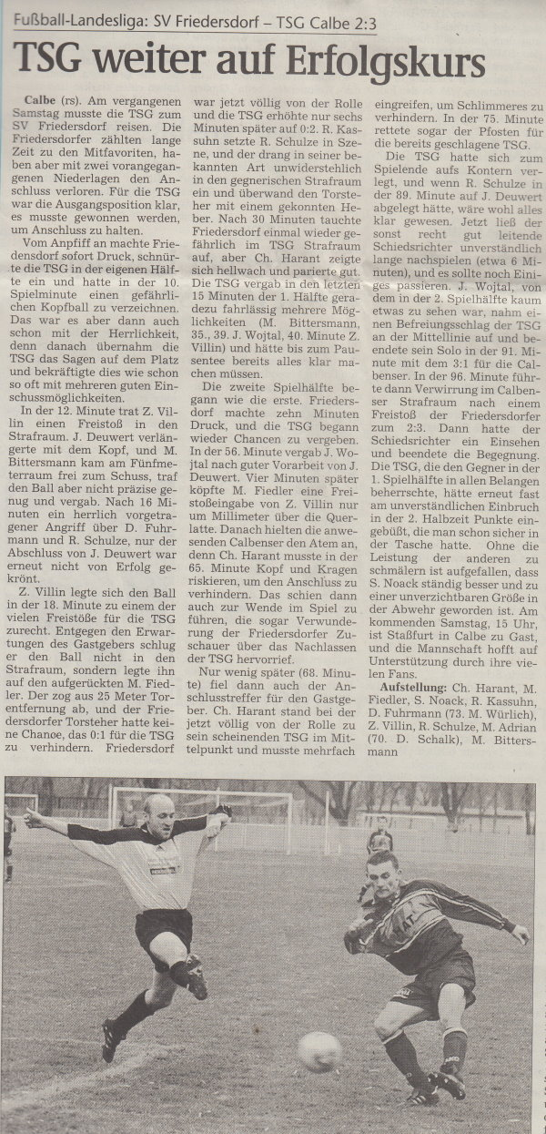 Volksstimme-Artikel vom 19. März 2002.