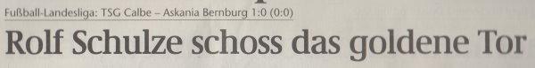 Volksstimme-Artikel vom 02. April 2002 (Überschrift).