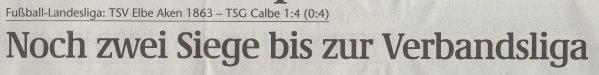 Volksstimme-Artikel vom 14. Mai 2002 (Überschrift).