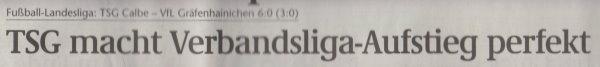 Volksstimme-Artikel vom 22. Mai 2002 (Überschrift).