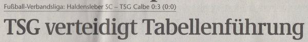 Volksstimme-Artikel vom 09. September 2002 (Überschrift).