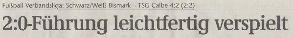 Volksstimme-Artikel vom 07. Oktober 2002 (Überschrift).