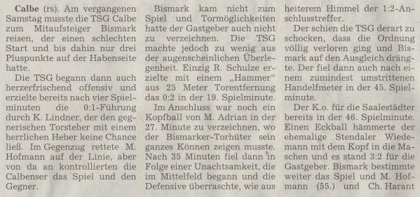 Volksstimme-Artikel vom 07. Oktober 2002 (Teil 1).
