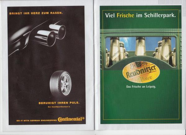 Programmheft vom Hinspiel in Dessau am 23. November 2002.