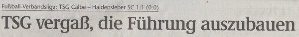 Volksstimme-Artikel vom 25. Februar 2003 (Überschrift).
