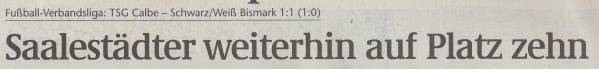 Volksstimme-Artikel vom 24. März 2003 (Überschrift).