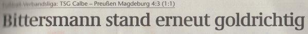 Volksstimme-Artikel vom 05. Mai 2003 (Überschrift).