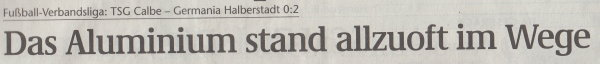 Volksstimme-Artikel vom 20. Mai 2003 (Überschrift).
