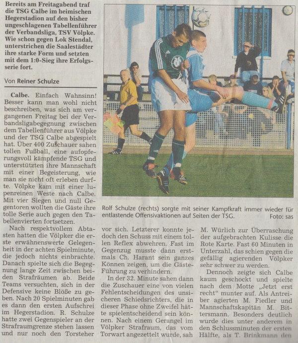 Volksstimme-Artikel vom 08. September 2003 (Teil 1).