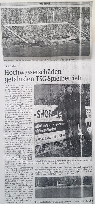 Volksstimme-Bericht vom 05. Februar 2002.