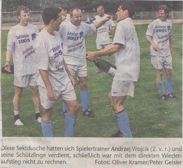 Volksstimme-Foto zum Verbandsligaaufstieg.