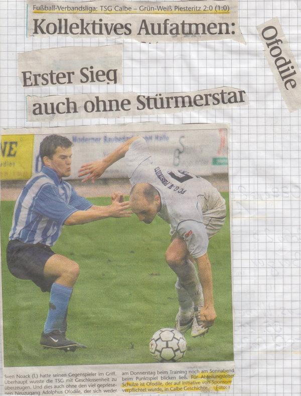 Volksstimme-Bericht zum 7. Spieltag.