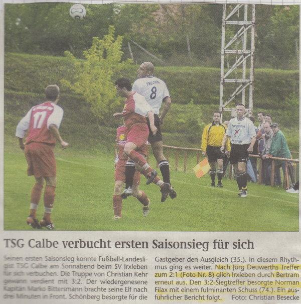 Volksstimme-Foto zum 2. Spieltag.